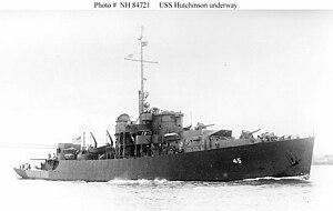 USS Hutchinson (PF-45) - Image: USS Hutchinson PF 45
