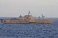 USS Independence (LCS 2) alongside PLA(N) Haikou (DDG 171) during combined maneuvering exercises.jpg