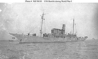 USS Remlik (SP-157) - Image: USS Remlik (SP 157)