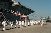 USS Saratoga (CV-60) at decommissioning