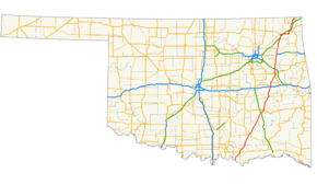 US Route In Oklahoma Wikipedia - Oklahoma on map of us