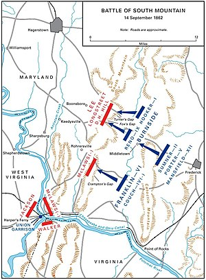 Battle of South Mountain - Maryland Campaign: Battle of South Mountain, September 14, 1862