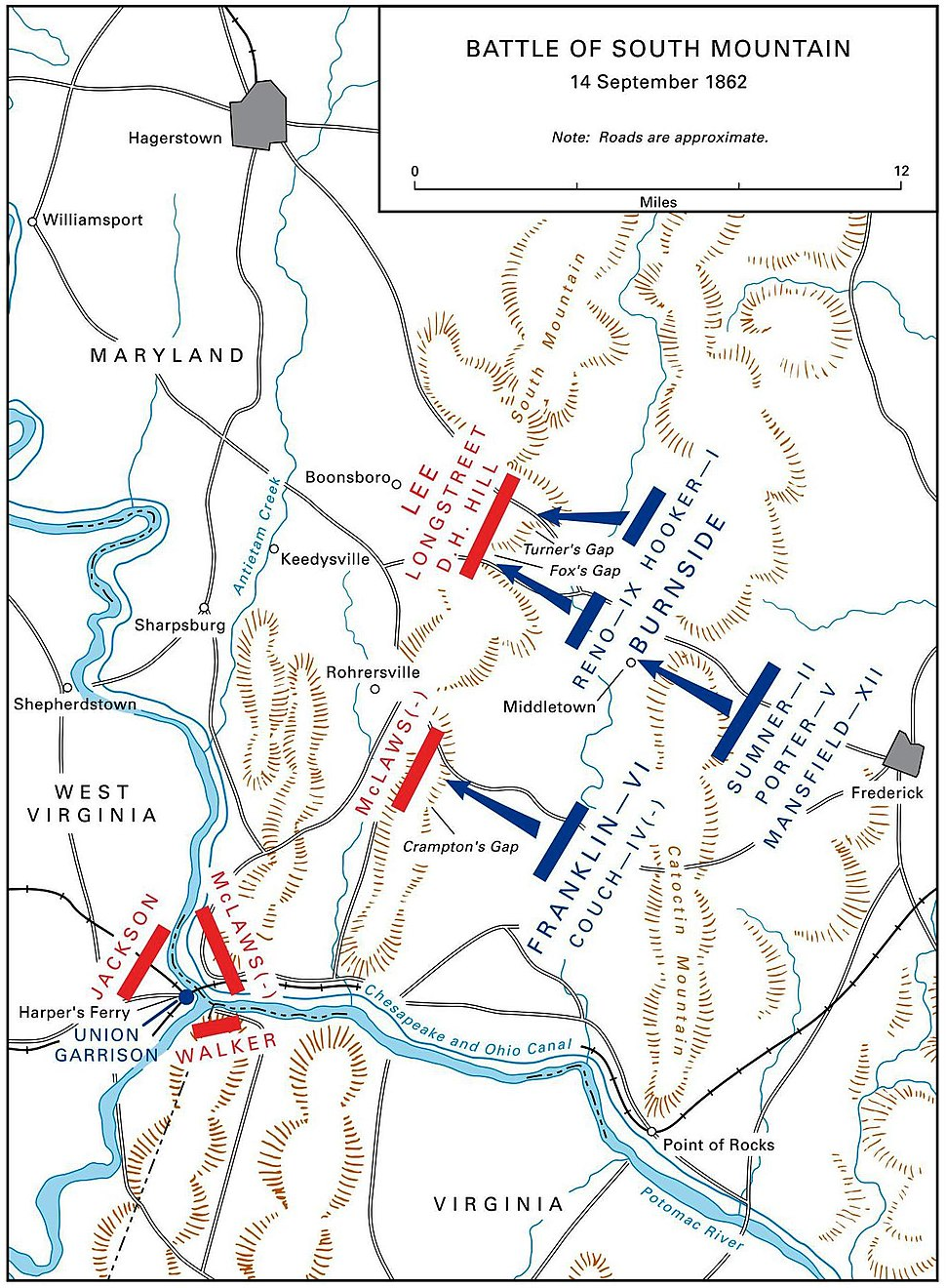 US ARMY MARYLAND CAMPAIGN MAP 3 (SOUTH MOUNTAIN)