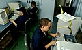 US Navy 030316-N-3783H-441 Sailors aboard USS Shiloh (CG 67) keep in touch with their loved ones back home via e-mail through the guided missile cruiser's onboard computer and telecommunications capabilities.jpg