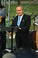 US Navy 050529-N-2383B-080 Secretary of Defense Donald Rumsfeld addresses veterans at the nations reflecting pool during Rolling Thunder 2005.jpg
