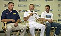 US Navy 050823-N-5862D-135 Commander, Navy Recruiting Command, Rear Adm. Dale Jeffrey Fowler and Navy NASCAR driver and team owner Dale Earnhardt Jr., right, and driver Mark McFarland.jpg