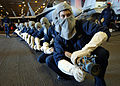 US Navy 051031-N-7090S-001 Sailors assigned to Repair Locker One Bravo stand ready to battle a simulated fire.jpg
