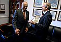 US Navy 090403-N-5549O-037 Acting Secretary of the Navy the Honorable BJ Penn, left, shares a laugh with U.S. Rep. Chet Edwards (D-Texas) after presenting him with a distinguished public service award at the Rayburn House Offic.jpg