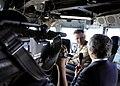 US Navy 090505-N-7280V-151 Yoshiki Hidaka, interviews, Capt. Thom W. Burke amphibious, commanding officer command ship USS Blue Ridge (LCC 19).jpg