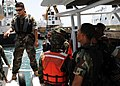 US Navy 090708-N-2651J-038 U.S. Naval special warfare combatant-craft crewmen instruct Dominican Republic Navy personnel on procedures for an underway evolution during a Joint Combined Exchange Training.jpg