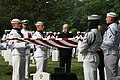 US Navy 090817-N-0000X-002 Members of the U.S. Navy Ceremonial Guard render honors during a military funeral for retired Navy Capt. Laurie Mosolino.jpg