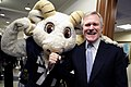 US Navy 091210-N-5549O-090 Secretary of the Navy (SECNAV) the Honorable Ray Mabus and Navy mascot.jpg