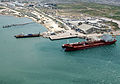 US Navy 100221-N-5787K-010 An aerial view of the logistical area near the port in Port-au-Prince.jpg