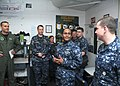 US Navy 100309-N-6764G-052 Vice Adm. Mel Williams Jr., commander of U.S. 2nd Fleet, meets with Sailors during a visit to Strike Fighter Squadron 105 (VFA 105).jpg