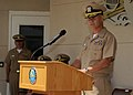 US Navy 110603-N-DI719-140 Vice Adm. Richard Hunt speaks at a change of command ceremony.jpg
