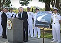 US Navy 110928-N-AC887-004 Secretary of the Navy (SECNAV) Ray Mabus and Montgomery Mayor Todd Strange, left, celebrate the naming of the eighth lit.jpg