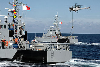 Armed Forces of Malta - Protector-class patrol boats on anti-piracy training mission in 2011