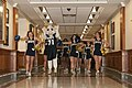 US Navy 111209-N-PM781-001 Bill the Goat, the U.S. Naval Academy mascot, and the U.S. Naval Academy Cheerleading Squad perform during a pep-rally a.jpg
