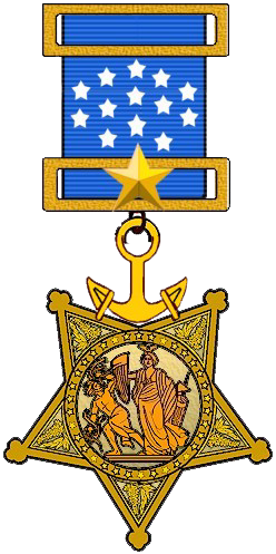 US Navy Medal of Honor (1913 to 1942)
