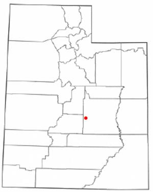 Moore, Utah - Image: UT Map doton Emery