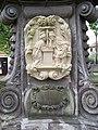 Uhříněves, socha svatého Jana Nepomuckého, reliéf zpovědi.jpg