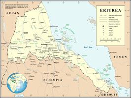 Kaart van Eritrea