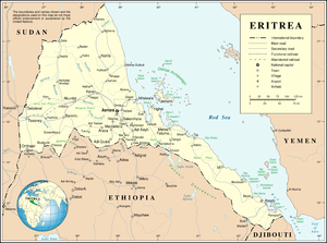 An enlargeable map of the State of Eritrea