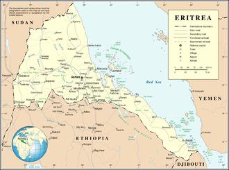 Geography of Eritrea - UN map of Eritrea