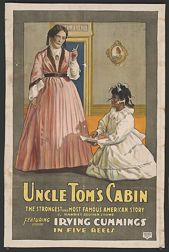 Film adaptations of Uncle Tom's Cabin - Poster for the World Film Company production of Uncle Tom's Cabin (1914), part of the National Film Registry