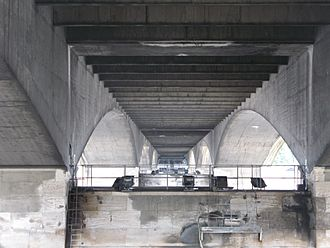 "Waterloo Bridge - The design called for supporting beams only at the outside edges, to bring ""light and sweetness"" to the underside--Giles Gilbert Scott, quoted in Hopkins (1970)"