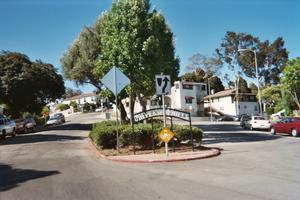 University Hills, Los Angeles - University Hills sign at Lansdowne Avenue near Eastern