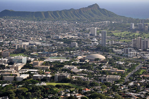 University of Hawaii Air view