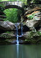 Upper-waterfalls-old-mans-cave-bridge-vertical - West Virginia - ForestWander.jpg