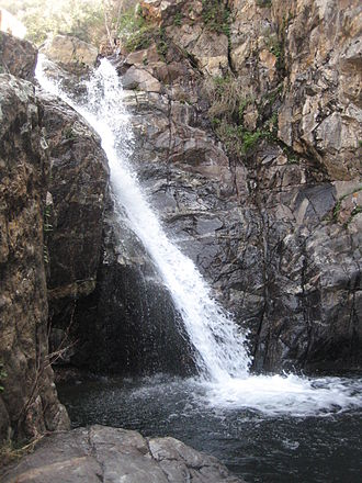 Hot Spring Canyon - Upper Hot spring fall