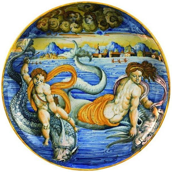File:Urbino Venus and Cupid on dolphins.jpg