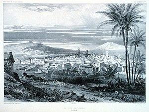 San Cristóbal de La Laguna in 1880 (Tenerife)