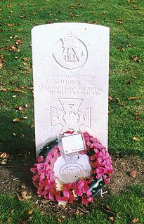 Frederick Youens British recipient of the Victoria Cross