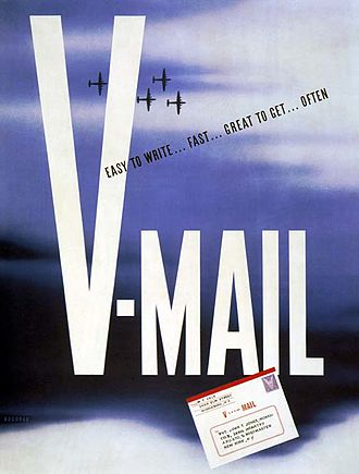 V-mail - Poster from World War II promoting the use of V-mail