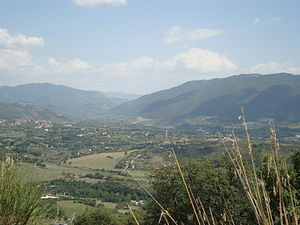 Lazio - Panorama of the Aniene Valley.