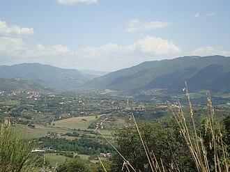 Lazio - Panorama of the Aniene Valley.