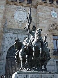 Valladolid-Monumento frente a la Academia de Caballería.jpg
