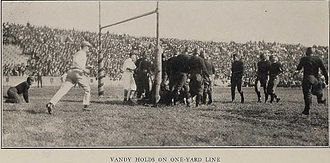 1922 Michigan vs. Vanderbilt football game - Vandy's goal line stand.
