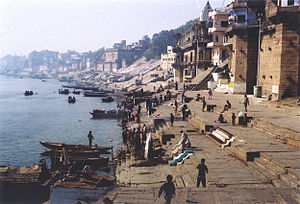 Holy city - Ganges River in Varanasi