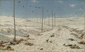 Vasily Vereshchagin - Vasily Vereshchagin (Russian, 1842-1904). The Road of the War Prisoners, 1878-1879. Oil on canvas. Brooklyn Museum