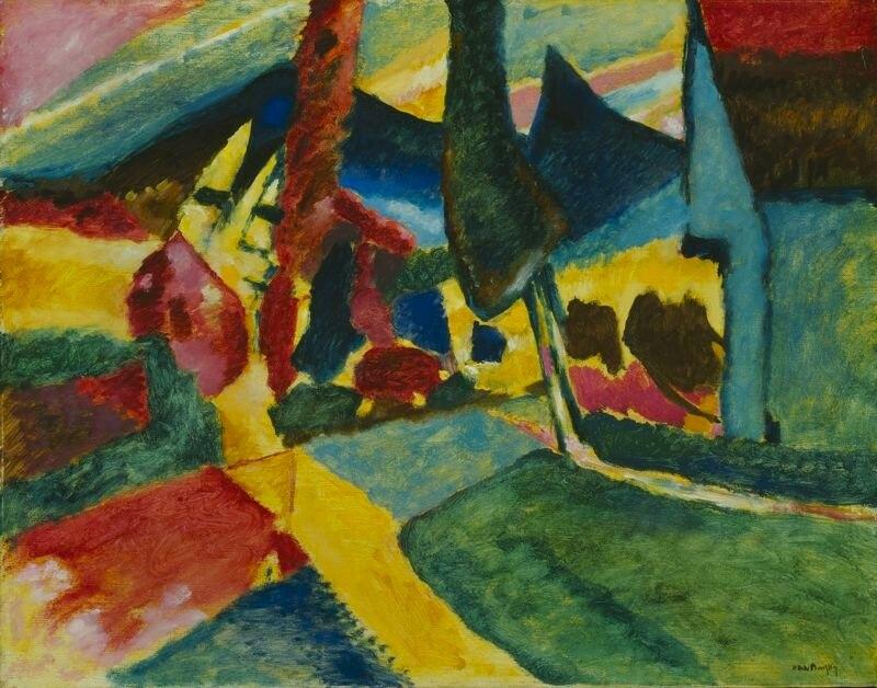 Vassilly Kandinsky, 1912 - Landscape With Two Poplars