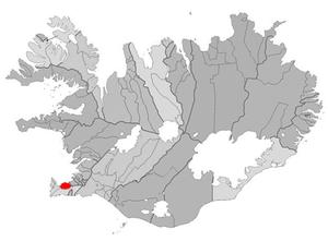 Vogar - Image: Vatnsleysustrandarhr eppur map