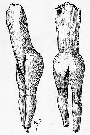 Venus figurines - Vénus impudique, 1907 drawing