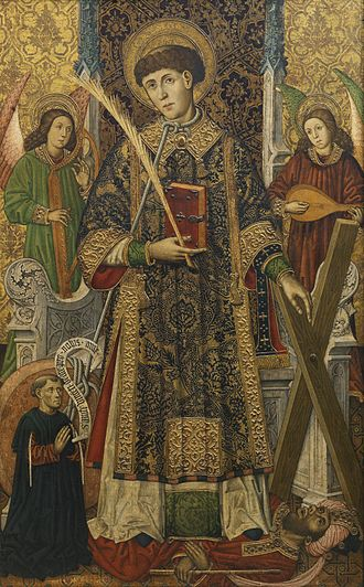 Vincent of Saragossa - 15th-century painting of Vincent by Tomás Giner.
