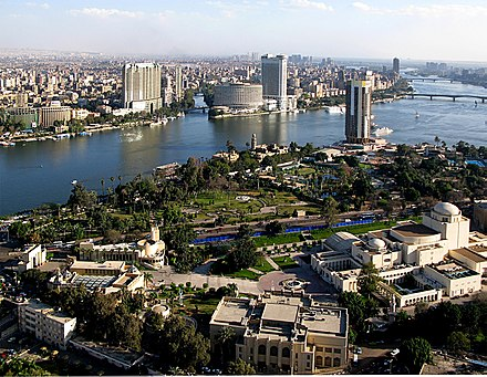 The Nile river in Cairo, Egypt's capital city View from Cairo Tower 31march2007.jpg