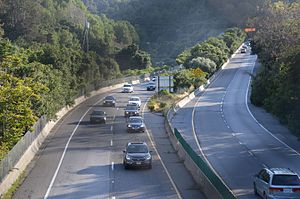 Los Gatos, California - CA 17 freeway passes through Los Gatos